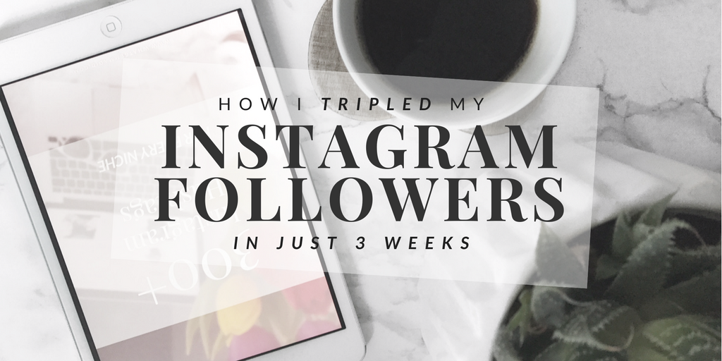 The 5 Simple Steps I took to TRIPLE my Instagram followers in just 3 weeks!